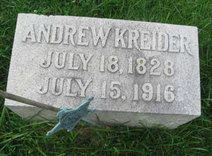 KREIDER (CW), ANDREW W. - Lebanon County, Pennsylvania | ANDREW W. KREIDER (CW) - Pennsylvania Gravestone Photos