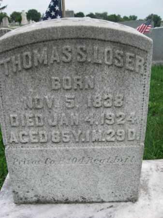 LOSER (LOESER) (CW), THOMAS S. - Lebanon County, Pennsylvania | THOMAS S. LOSER (LOESER) (CW) - Pennsylvania Gravestone Photos