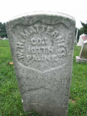 MATTERNESS (CW), WILLIAM H. - Lebanon County, Pennsylvania | WILLIAM H. MATTERNESS (CW) - Pennsylvania Gravestone Photos