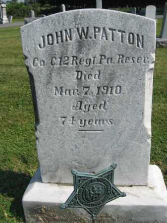 PATTON, JOHN W. - Lebanon County, Pennsylvania   JOHN W. PATTON - Pennsylvania Gravestone Photos