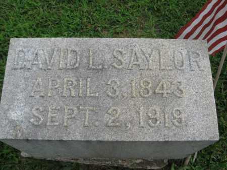 SAYLOR, DAVID L. - Lebanon County, Pennsylvania | DAVID L. SAYLOR - Pennsylvania Gravestone Photos