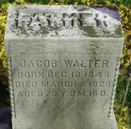 WALTER (CW), JACOB - Lebanon County, Pennsylvania | JACOB WALTER (CW) - Pennsylvania Gravestone Photos
