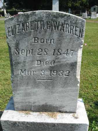 WARREN, ELIZABETH G. - Lebanon County, Pennsylvania | ELIZABETH G. WARREN - Pennsylvania Gravestone Photos