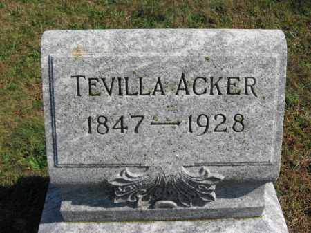 ACKER, TEVILLA - Lehigh County, Pennsylvania | TEVILLA ACKER - Pennsylvania Gravestone Photos