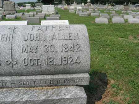ALLEN, SGT. JOHN - Lehigh County, Pennsylvania | SGT. JOHN ALLEN - Pennsylvania Gravestone Photos