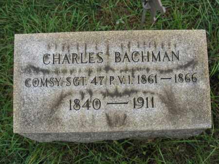 BACHMAN, SGT. CHARLES - Lehigh County, Pennsylvania | SGT. CHARLES BACHMAN - Pennsylvania Gravestone Photos