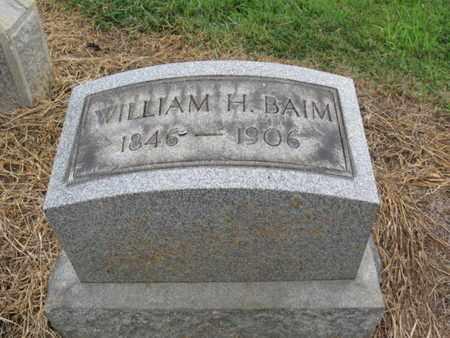 BAIM, WILLIAM H. - Lehigh County, Pennsylvania | WILLIAM H. BAIM - Pennsylvania Gravestone Photos