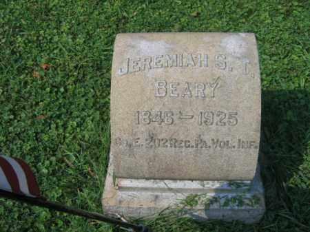 BEARY, JEREMIAH S.T. - Lehigh County, Pennsylvania | JEREMIAH S.T. BEARY - Pennsylvania Gravestone Photos