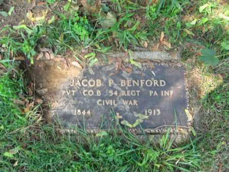 BENFORD, PVT. JACOB P. - Lehigh County, Pennsylvania   PVT. JACOB P. BENFORD - Pennsylvania Gravestone Photos