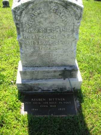 BITTNER  (CW), PVT.REUBEN - Lehigh County, Pennsylvania | PVT.REUBEN BITTNER  (CW) - Pennsylvania Gravestone Photos