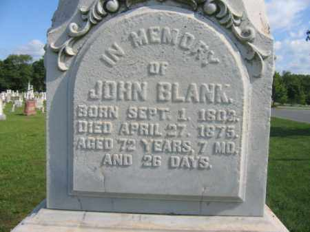BLANK, JOHN - Lehigh County, Pennsylvania   JOHN BLANK - Pennsylvania Gravestone Photos