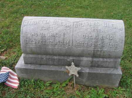 BLEAM, MARIETTA - Lehigh County, Pennsylvania | MARIETTA BLEAM - Pennsylvania Gravestone Photos