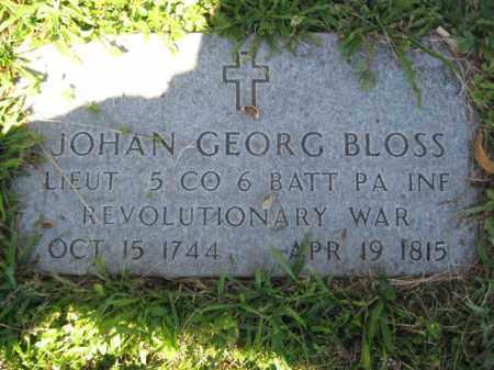 BLOSS, JOHAN  GEORG - Lehigh County, Pennsylvania | JOHAN  GEORG BLOSS - Pennsylvania Gravestone Photos