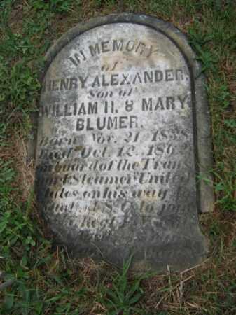 BLUMER, HENRY ALEXANDER - Lehigh County, Pennsylvania   HENRY ALEXANDER BLUMER - Pennsylvania Gravestone Photos
