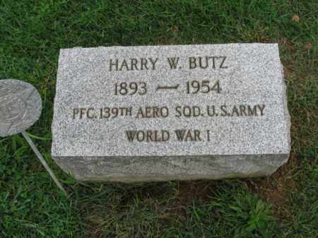 BUTZ, HARRY W. - Lehigh County, Pennsylvania | HARRY W. BUTZ - Pennsylvania Gravestone Photos