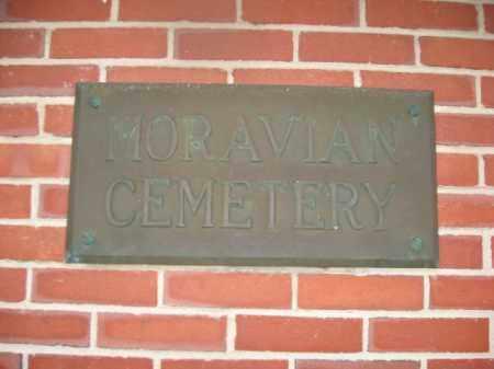 CEMETERY SIGN, MORAVIAN - Lehigh County, Pennsylvania | MORAVIAN CEMETERY SIGN - Pennsylvania Gravestone Photos