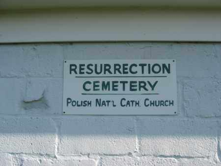 CEMETERY SIGN, RESURRECTION CEMTERY - Lehigh County, Pennsylvania   RESURRECTION CEMTERY CEMETERY SIGN - Pennsylvania Gravestone Photos