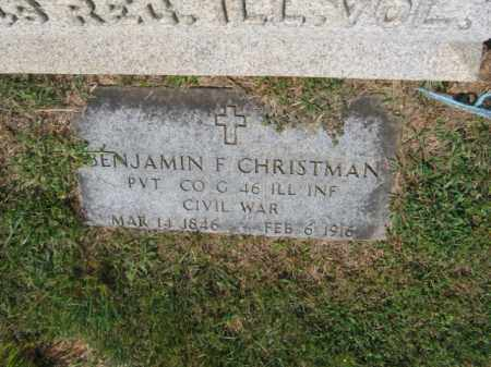 CHRISTMAN (CW), BENJAMIN F. - Lehigh County, Pennsylvania | BENJAMIN F. CHRISTMAN (CW) - Pennsylvania Gravestone Photos