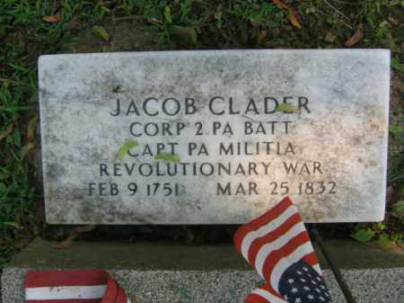CLADER, JACOB - Lehigh County, Pennsylvania | JACOB CLADER - Pennsylvania Gravestone Photos