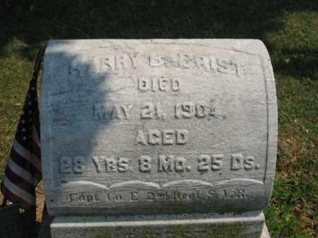 CRIST, CAPT. HARRY B. - Lehigh County, Pennsylvania   CAPT. HARRY B. CRIST - Pennsylvania Gravestone Photos