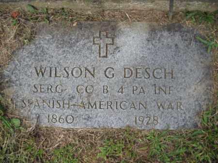 DESCH (SAW), WILSON G. - Lehigh County, Pennsylvania | WILSON G. DESCH (SAW) - Pennsylvania Gravestone Photos