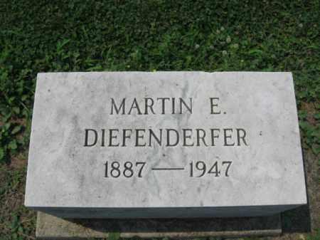 DIEFENDERFER, MARTIN E. - Lehigh County, Pennsylvania | MARTIN E. DIEFENDERFER - Pennsylvania Gravestone Photos