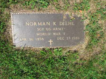 DIEHL, NORMAN K. - Lehigh County, Pennsylvania | NORMAN K. DIEHL - Pennsylvania Gravestone Photos
