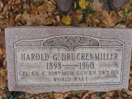 DRUCKENMILLER, HAROLD G. - Lehigh County, Pennsylvania   HAROLD G. DRUCKENMILLER - Pennsylvania Gravestone Photos