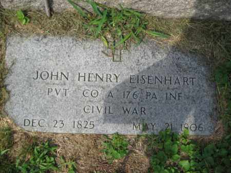 EISENHARD (CW), JOHN HENRY - Lehigh County, Pennsylvania   JOHN HENRY EISENHARD (CW) - Pennsylvania Gravestone Photos
