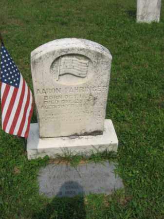 FAHRINGER, AARON - Lehigh County, Pennsylvania | AARON FAHRINGER - Pennsylvania Gravestone Photos