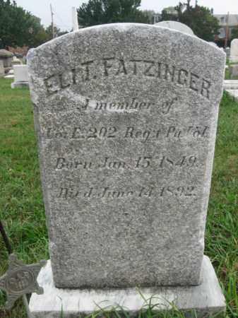 FATZINGER, ELIT. - Lehigh County, Pennsylvania | ELIT. FATZINGER - Pennsylvania Gravestone Photos