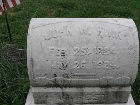 FINK, JOHN W. - Lehigh County, Pennsylvania | JOHN W. FINK - Pennsylvania Gravestone Photos