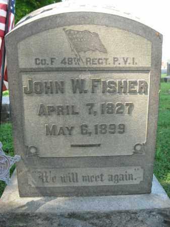 FISHER, JOHN W. - Lehigh County, Pennsylvania | JOHN W. FISHER - Pennsylvania Gravestone Photos