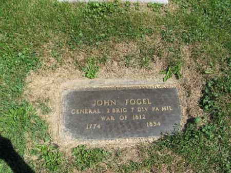 FOGEL, GENERAL JOHN - Lehigh County, Pennsylvania   GENERAL JOHN FOGEL - Pennsylvania Gravestone Photos