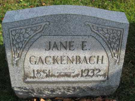 GACKENBACH, JANE E, - Lehigh County, Pennsylvania | JANE E, GACKENBACH - Pennsylvania Gravestone Photos