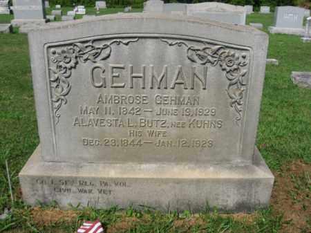 GEHMAN  (CW), AMBROSE - Lehigh County, Pennsylvania   AMBROSE GEHMAN  (CW) - Pennsylvania Gravestone Photos