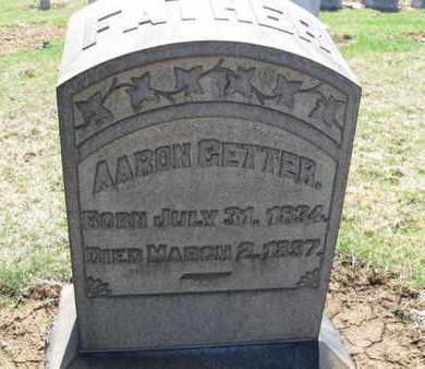 GETTER (CW), AARON - Lehigh County, Pennsylvania | AARON GETTER (CW) - Pennsylvania Gravestone Photos