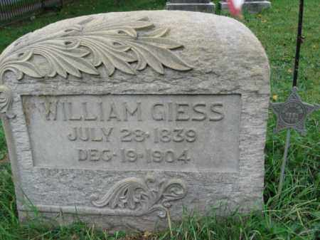 GIESS, WILLAIM - Lehigh County, Pennsylvania | WILLAIM GIESS - Pennsylvania Gravestone Photos