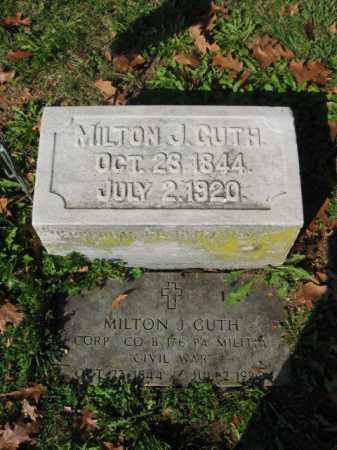 GUTH, CORP.MILTON  J. - Lehigh County, Pennsylvania | CORP.MILTON  J. GUTH - Pennsylvania Gravestone Photos