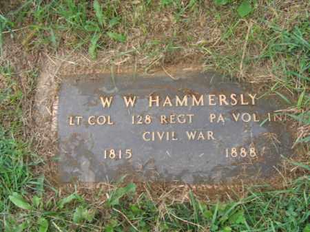 HAMMERSLY, LT.COL. W.W. - Lehigh County, Pennsylvania | LT.COL. W.W. HAMMERSLY - Pennsylvania Gravestone Photos
