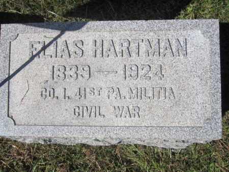 HARTMAN (CW), ELIAS - Lehigh County, Pennsylvania | ELIAS HARTMAN (CW) - Pennsylvania Gravestone Photos