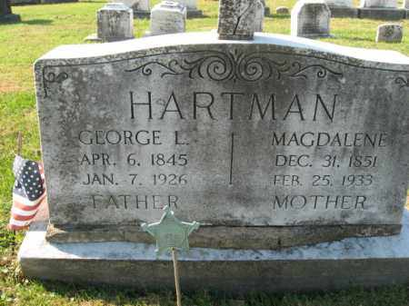 HARTMAN, MAGDALENE - Lehigh County, Pennsylvania | MAGDALENE HARTMAN - Pennsylvania Gravestone Photos