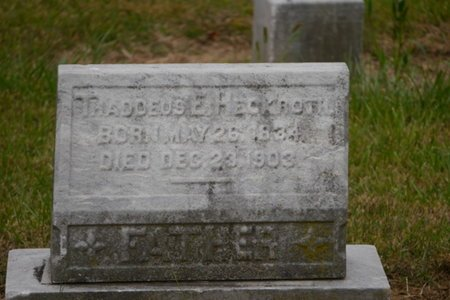 HECKROTH  (CW), THADDEUS - Lehigh County, Pennsylvania | THADDEUS HECKROTH  (CW) - Pennsylvania Gravestone Photos