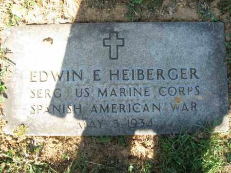 HEIBERGER, EDWIN E. - Lehigh County, Pennsylvania | EDWIN E. HEIBERGER - Pennsylvania Gravestone Photos