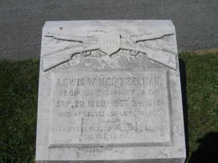 HEINTZELMAN, LEWIS W. - Lehigh County, Pennsylvania | LEWIS W. HEINTZELMAN - Pennsylvania Gravestone Photos