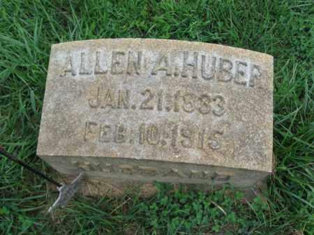 HUBER, ALLEN A. - Lehigh County, Pennsylvania   ALLEN A. HUBER - Pennsylvania Gravestone Photos