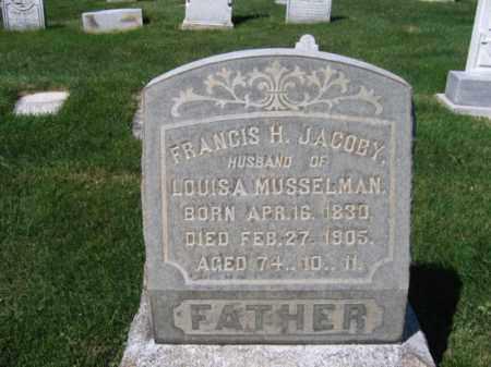 JACOBY, FRANCIS H. - Lehigh County, Pennsylvania   FRANCIS H. JACOBY - Pennsylvania Gravestone Photos