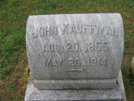 KAUFFMAN, JOHN - Lehigh County, Pennsylvania | JOHN KAUFFMAN - Pennsylvania Gravestone Photos