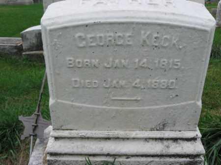 KECK, GEORGE - Lehigh County, Pennsylvania | GEORGE KECK - Pennsylvania Gravestone Photos