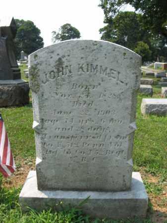 KIMMEL, JOHN - Lehigh County, Pennsylvania | JOHN KIMMEL - Pennsylvania Gravestone Photos